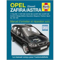 MANUEL ENTRETIEN ET RÉPARATION AUTO OPEL ZAFIRA / ASTRA DIESEL de 1999 à 2005 Librairie Automobile SPE 9781844252695