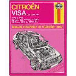MANUEL ENTRETIEN ET RÉPARATION AUTO CITROËN VISA de 1979 à 1988 Librairie Automobile SPE 038345018046