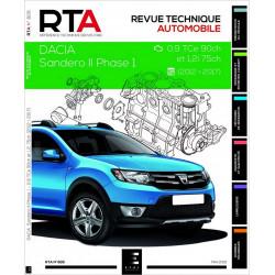 REVUE TECHNIQUE DACIA SANDERO II - RTA 826 Librairie Automobile SPE 9791028306236