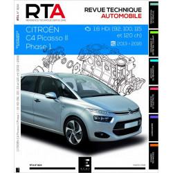 REVUE TECHNIQUE CITROEN C4 PICASSO II 1.6HDi 92 à 120ch (2013-2016) - RTA 824 Librairie Automobile SPE 9791028306212