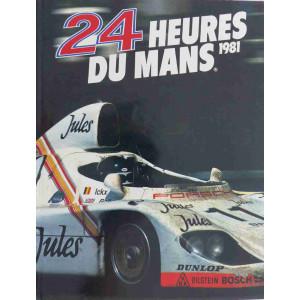 24 heures du Mans 1981 / Christian Moity et Jean-Marc Teissèdre / Edition ACLA
