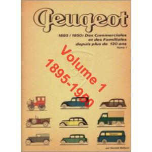 PEUGEOT 1895/1950 Commerciales et Familiales Vol.1 Librairie Automobile SPE 9788894072440