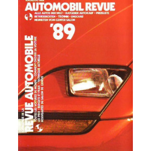 CATALOGUE DE LA REVUE AUTOMOBILE SUISSE 1989 Librairie Automobile SPE 3444004826