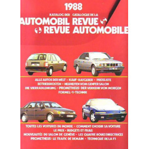 CATALOGUE DE LA REVUE AUTOMOBILE SUISSE 1988 Librairie Automobile SPE 3444004699