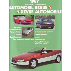 CATALOGUE DE LA REVUE AUTOMOBILE SUISSE 1987 Librairie Automobile SPE 3444004583