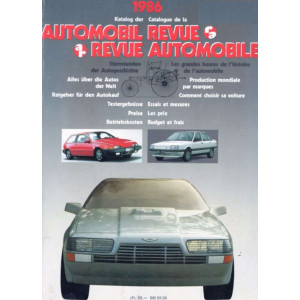 CATALOGUE DE LA REVUE AUTOMOBILE SUISSE 1986 Librairie Automobile SPE 3444004508