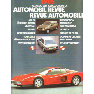 CATALOGUE DE LA REVUE AUTOMOBILE SUISSE 1985 Librairie Automobile SPE 3444060815
