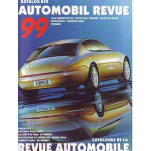 CATALOGUE DE LA REVUE AUTOMOBILE SUISSE 1999 Librairie Automobile SPE 344410538X