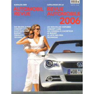 CATALOGUE DE LA REVUE AUTOMOBILE SUISSE 2006 Librairie Automobile SPE 9783905386066