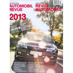 CATALOGUE DE LA REVUE AUTOMOBILE SUISSE 2013 Librairie Automobile SPE 9783905386134
