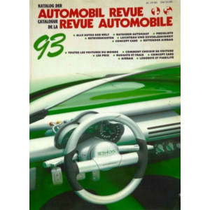 CATALOGUE DE LA REVUE AUTOMOBILE SUISSE 1993 Librairie Automobile SPE 3444005598