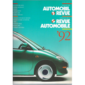 CATALOGUE DE LA REVUE AUTOMOBILE SUISSE 1992 Librairie Automobile SPE 3444005393