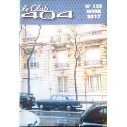 LE CLUB 404 LE MAGAZINE PEUGEOT N°125 Librairie Automobile SPE LE CLUB 404 N°125