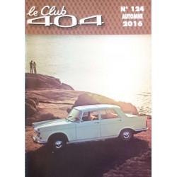 LE CLUB 404 LE MAGAZINE PEUGEOT N°124 DOSSIER COMPARATIF 203/404 Librairie Automobile SPE LE CLUB 404 N°124