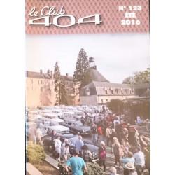LE CLUB 404 LE MAGAZINE PEUGEOT N°123 DOSSIER ASSEMBLÉE GÉNÉRALE Librairie Automobile SPE LE CLUB 404 N°123