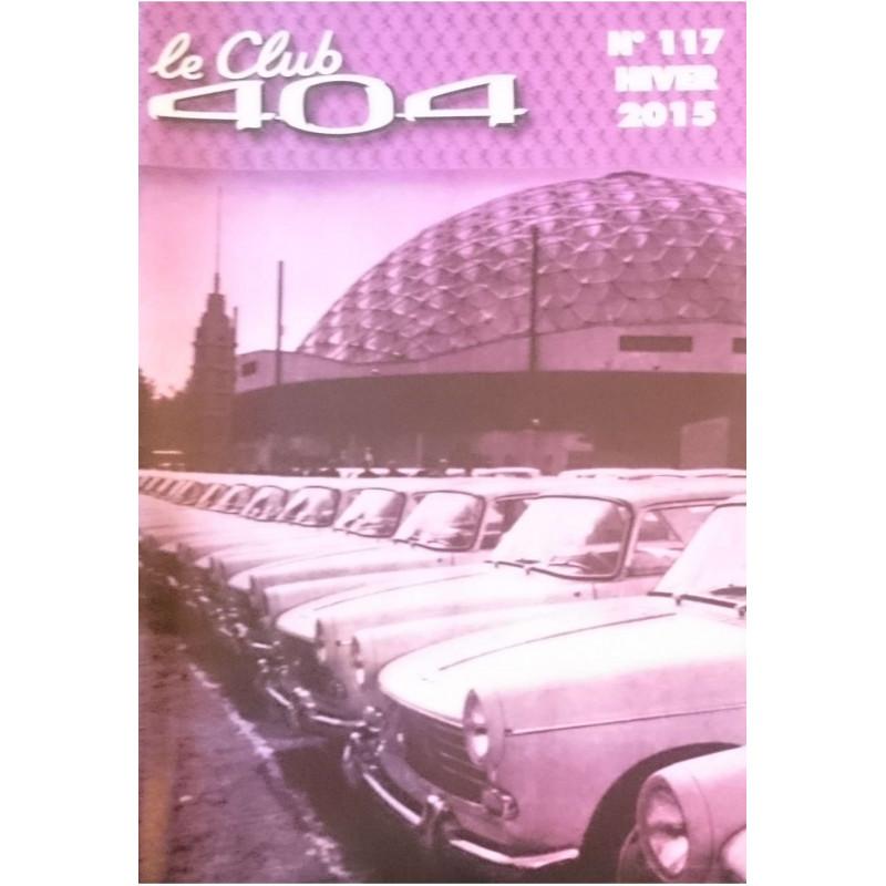 LE CLUB 404 LE MAGAZINE PEUGEOT N°117 Librairie Automobile SPE LE CLUB 404 N°117