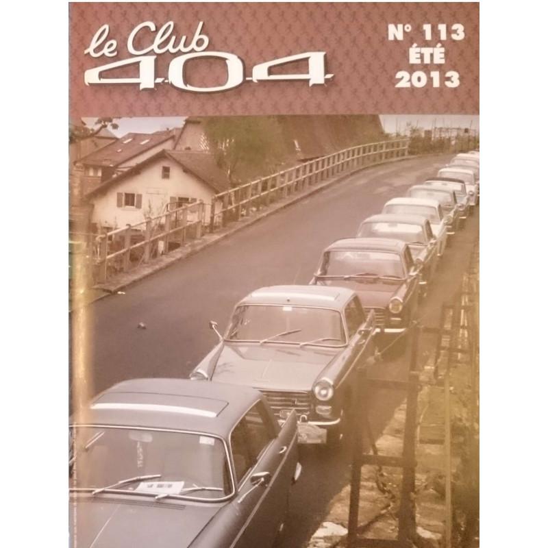 LE CLUB 404 LE MAGAZINE PEUGEOT N°113 Librairie Automobile SPE LE CLUB 404 N°113