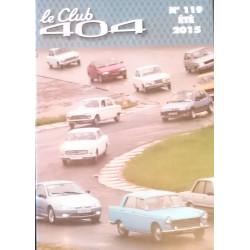 LE CLUB 404 LE MAGAZINE PEUGEOT N°119 Librairie Automobile SPE LE CLUB 404 N°119