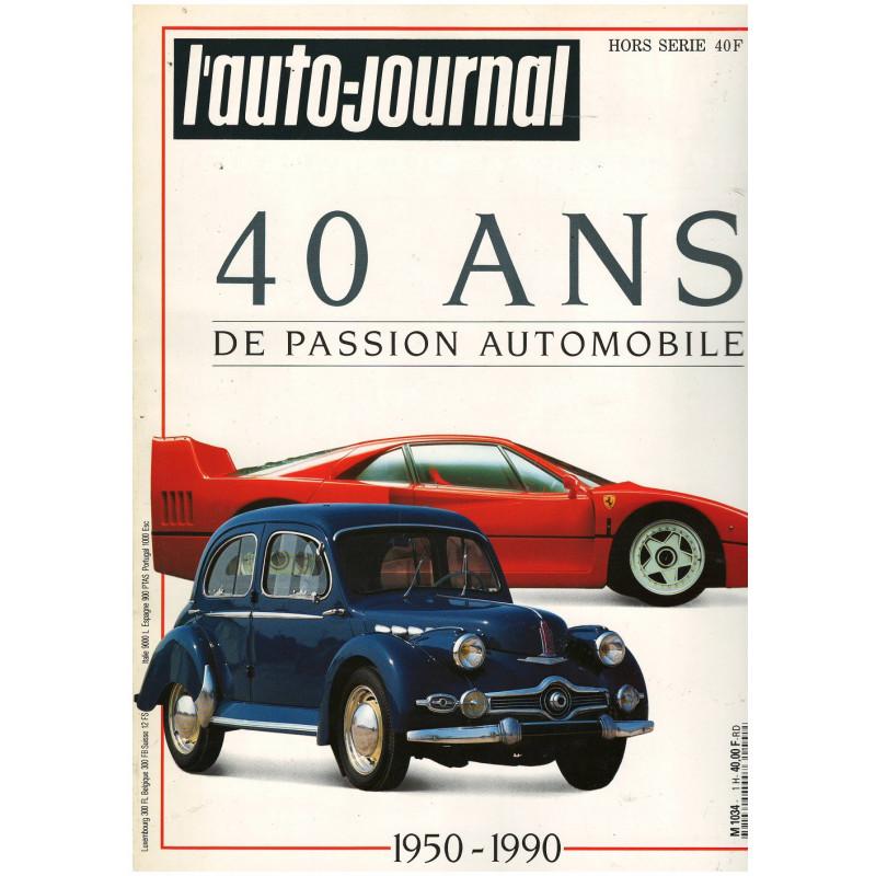 Revue L'Auto-Journal Hors série - 40 ans de passion Librairie Automobile SPE 3791034040007