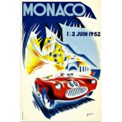 AFFICHE GRAND PRIX DE MONACO 1952 ( 68 x 100 cm ) Librairie Automobile SPE Affiche Monaco 1952