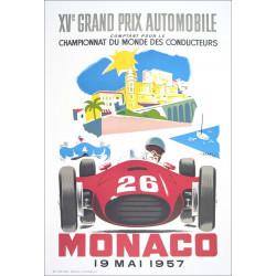 AFFICHE GRAND PRIX DE MONACO 1957 ( 68 x 100 cm ) XV GRANDS PRIX Librairie Automobile SPE Affiche Monaco 1957 - 2