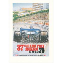 AFFICHE GRAND PRIX DE MONACO 1979 ( 68 x 100 cm ) Librairie Automobile SPE Affiche Monaco 1979
