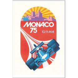 AFFICHE GRAND PRIX DE MONACO 1975 ( 68 x 93.50 cm ) Librairie Automobile SPE Affiche Monaco 1975