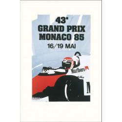 AFFICHE GRAND PRIX DE MONACO 1985 ( 68 x 94 cm ) Librairie Automobile SPE Affiche Monaco 1985