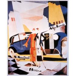 AFFICHE ALFA ROMEO par Magritte René ( 62 X 76 cm ) Librairie Automobile SPE AFFICHE ALFA ROMEO