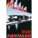 AFFICHE PANHARD - 24 HEURES DU MANS ( 68 X 100 cm ) Librairie Automobile SPE AFFICHE PANHARD