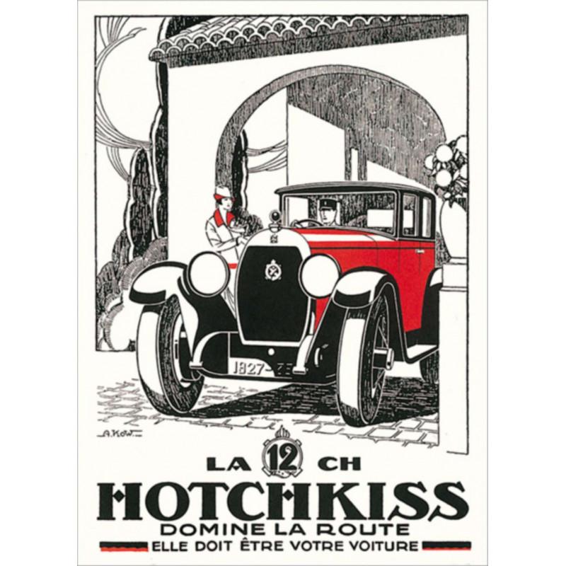 AFFICHE HOTCHKISS Par KOW Librairie Automobile SPE AFFICHE HOTCHKISS Par KOW