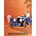 AFFICHE HOTCHKISS (CIEL ORANGE) Par KOW Librairie Automobile SPE AFFICHE HOTCHKISS