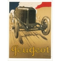 AFFICHE PEUGEOT ( 68 X 93.50 cm ) Librairie Automobile SPE AFFICHE PEUGEOT