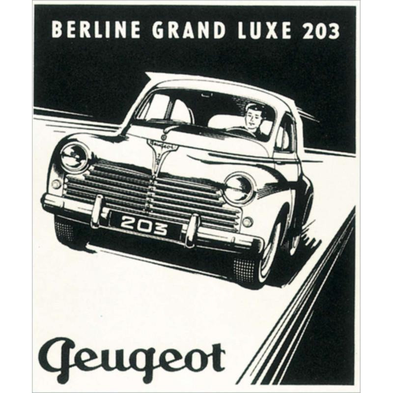 AFFICHE PEUGEOT 203 ( 45 X 55 cm ) Librairie Automobile SPE AFFICHE PEUGEOT 203