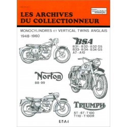 REVUE TECHNIQUE BSA NORTON TRIUMPH ARC105 Librairie Automobile SPE 9782726899434
