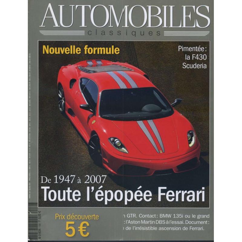 FERRARI 1947-2007 - AUTOMOBILES CLASSIQUES N°168 Librairie Automobile SPE AC168