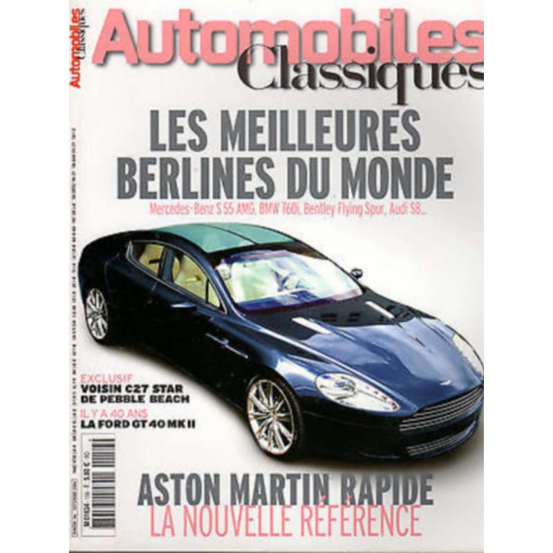 SPÉCIAL BERLINES - AUTOMOBILES CLASSIQUES N°156 Librairie Automobile SPE AC156