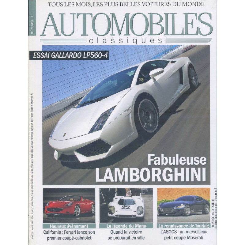 DOSSIER LAMBORGHINI - AUTOMOBILES CLASSIQUES N°174 Librairie Automobile SPE AC174