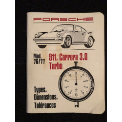 911, CARRERA, 3.0, TURBO - TYPES DIMENSIONS #LIBRAIRIEAUTOMOBILE TOLÉRANCES