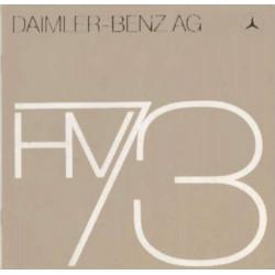 BROCHURE ORIGINALE DAIMLER-BENZ AG HV73 Librairie Automobile SPE DAIMLER-BENZ AG HV73