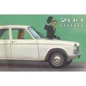 204 PEUGEOT BROCHURE PUBLICITAIRE ORIGINAL 1965 Librairie Automobile SPE Brochure Original 204 Peugeot