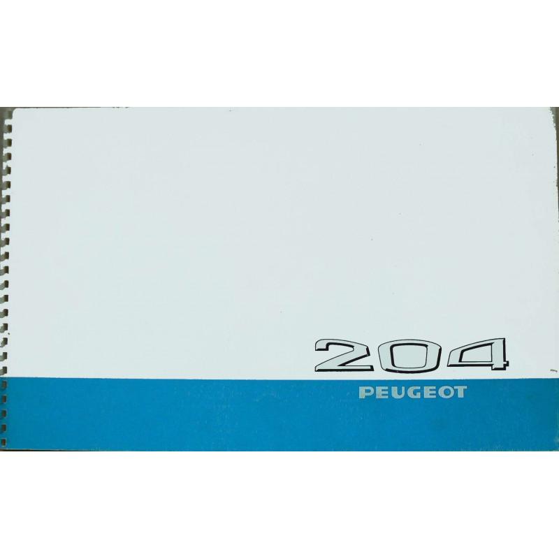 Brochure 204 PEUGEOT BERLINE GRAND LUXE - Original Librairie Automobile SPE Brochure Original Peugeot 204