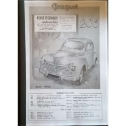 REVUE TECHNIQUE AUTOMOBILE PEUGEOT 203 Librairie Automobile SPE RTA 203 PEUGEOT