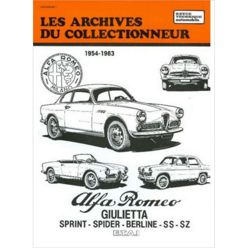 LIVRE ALFA ROMEO LIBRAIRIE AUTOMOBILE Alfa Romeo Giulietta