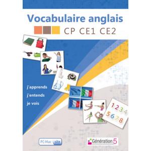Vocabulaire Anglais CP-CE1-CE2 - Génération 5