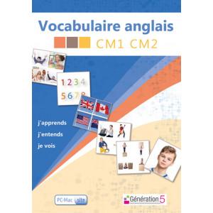 Vocabulaire Anglais CM1-CM2 - Génération 5