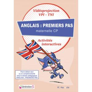 ANGLAIS : PREMIERS PAS MATERNELLE-CP - RESSOURCES TBI/VIDEOPROJECTION