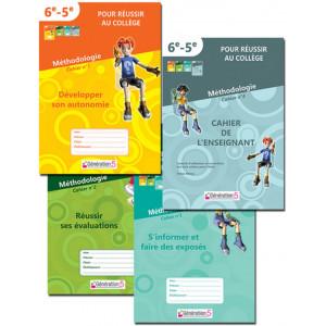 """Méthodologie - Pack des 4 cahiers """"Pour réussir au collège"""""""
