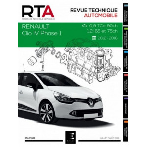 REVUE TECHNIQUE RENAULT CLIO IV Phase 1( 2012-2016) - RTA 828