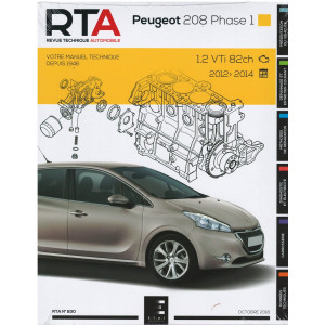 REVUE TECHNIQUE PEUGEOT 208 Phase 1 (2012-2014) - RTA 830
